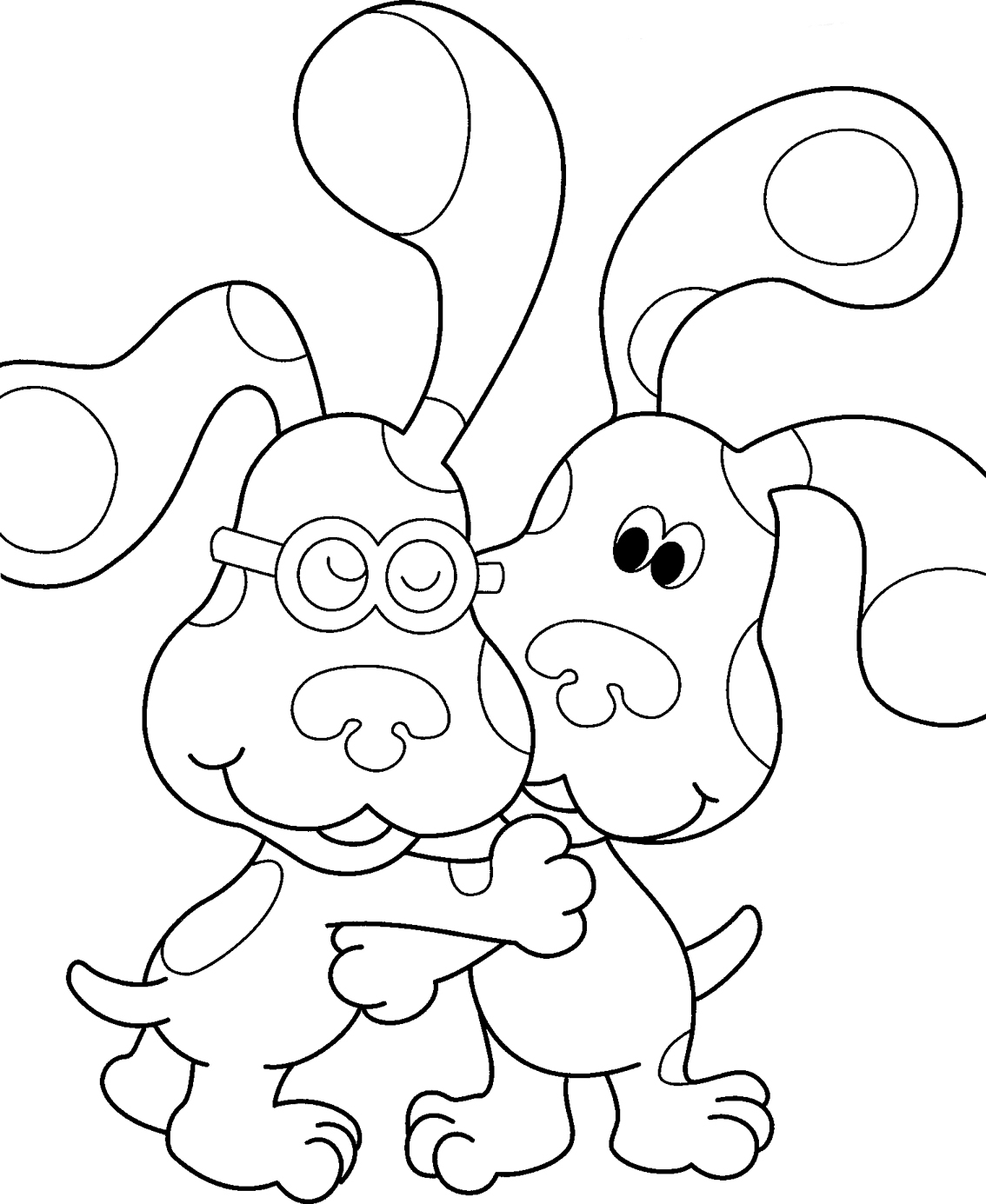 blues clues coloring pages online - photo#8