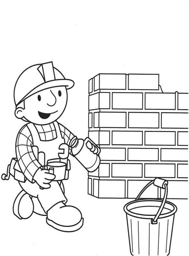 builders coloring pages - photo#6