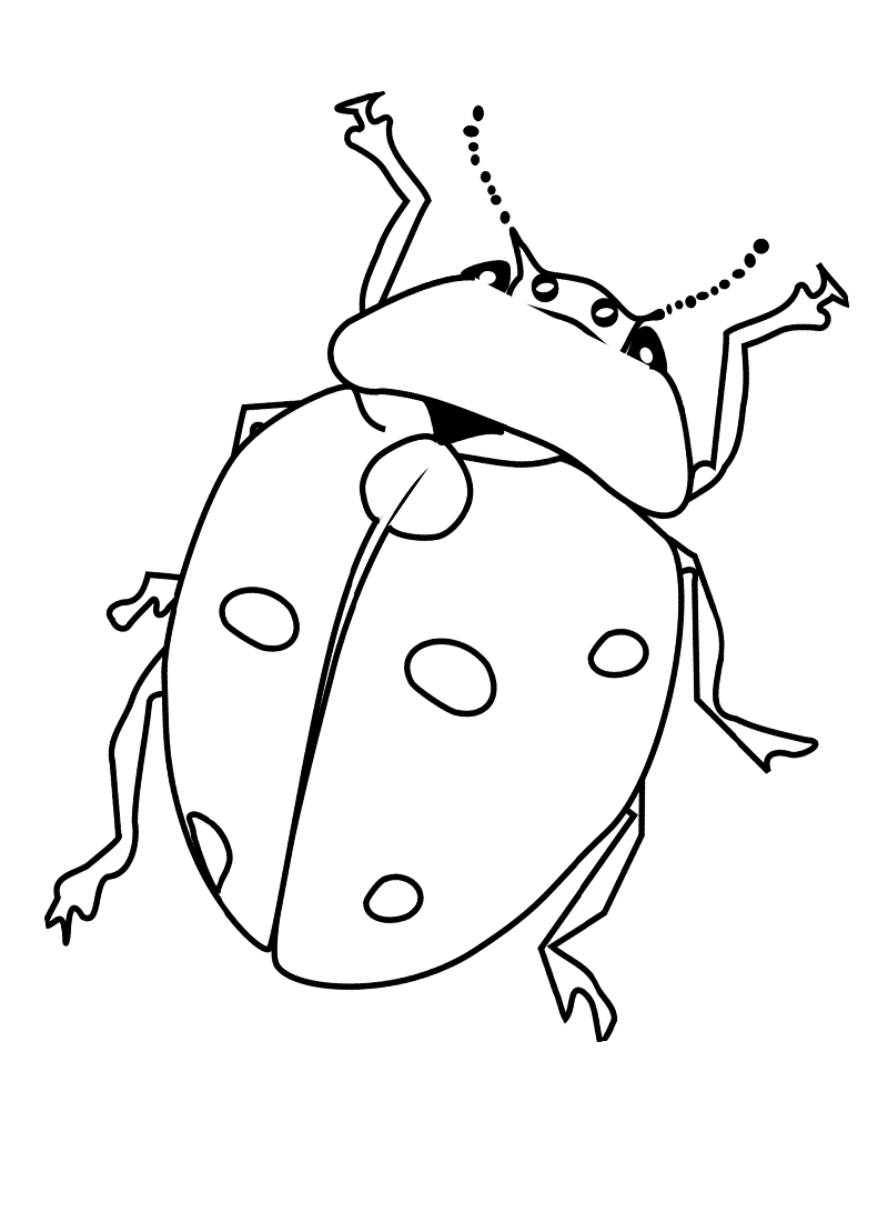 free printable bug coloring pages - photo#4