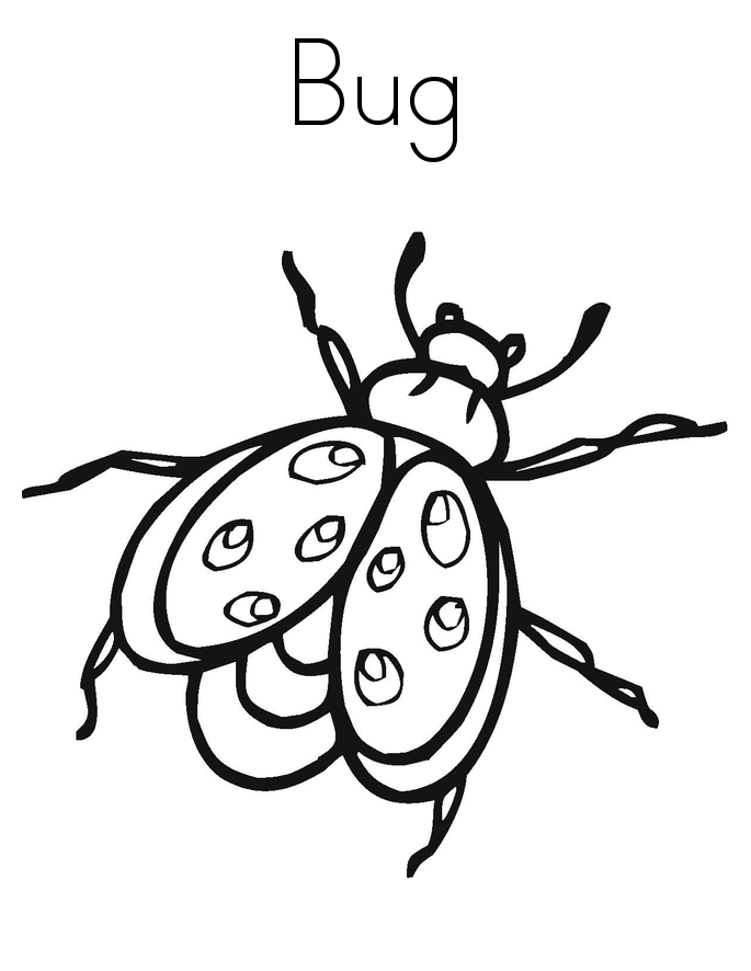 free printable bug coloring pages - photo#20