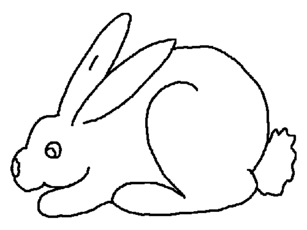 Free printable coloring pages rabbits - Bunny Rabbit Coloring Pages
