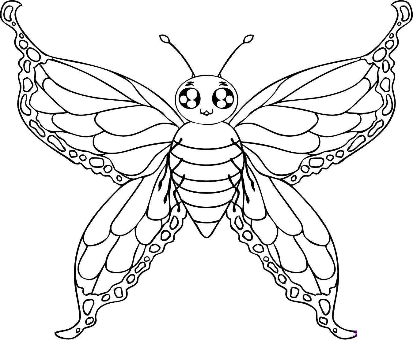 butterfly coloring pages for kids to print - Coloring Pages Butterfly Kids
