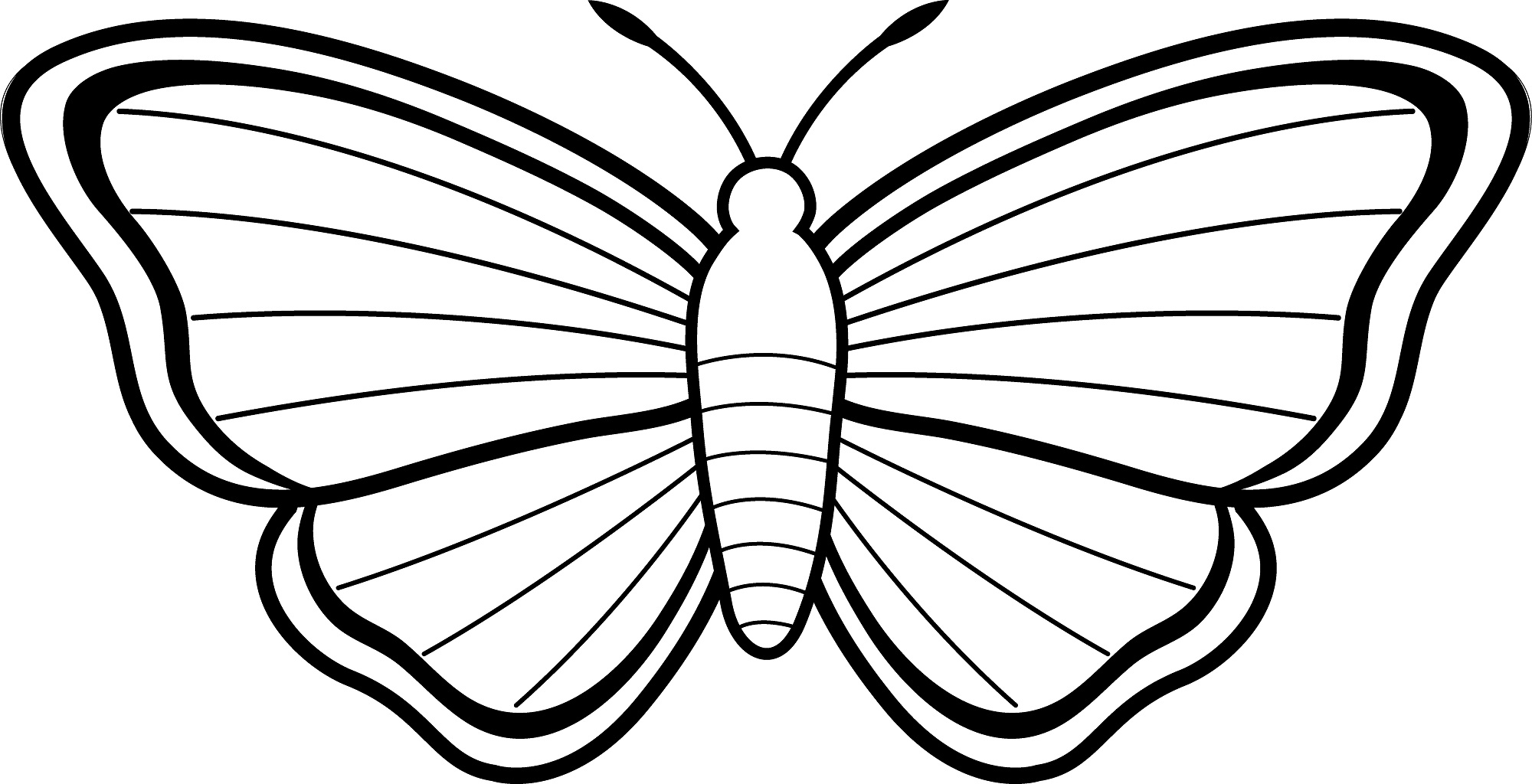 Coloring pages for butterflies - Butterfly Kids Coloring Pages