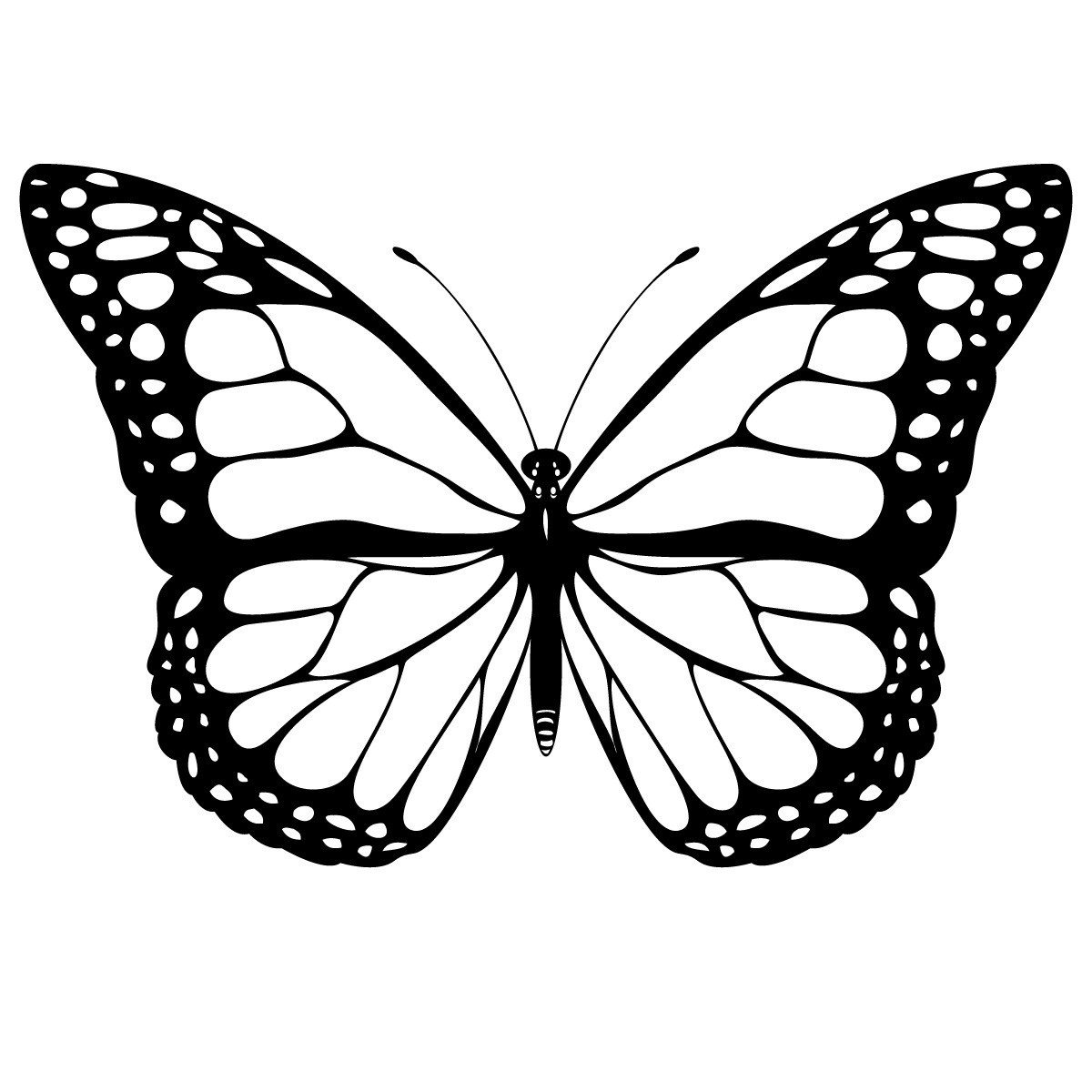 butterfly printable coloring pages - Printable Butterfly Coloring Pages