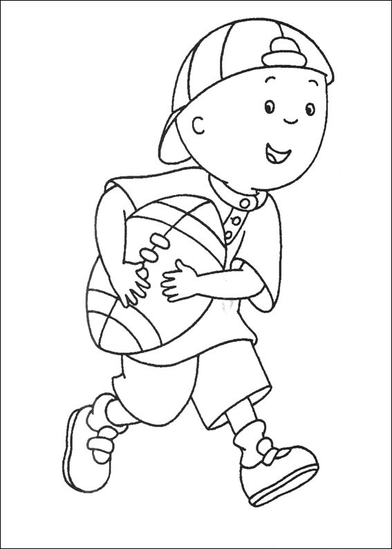Caillou Coloring Page Images