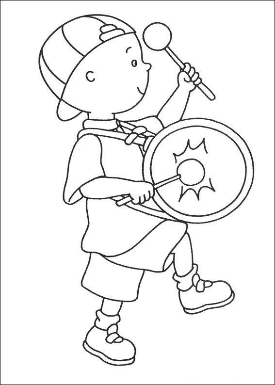 Caillou Coloring Page Photos