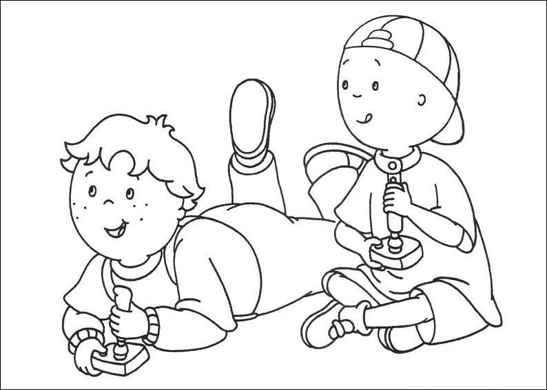 Free Printable Caillou Coloring Pages For Kids Caillou Coloring Page