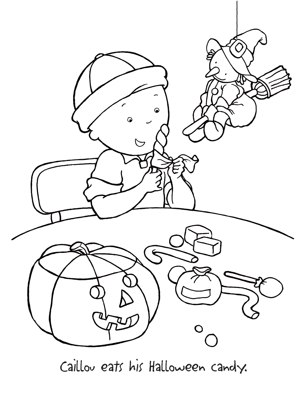 caillou christmas coloring pages | TimyKids