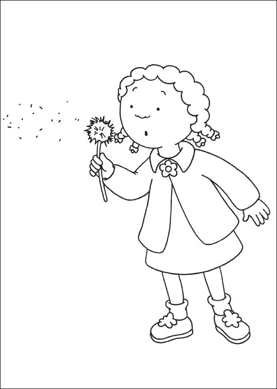 Caillou Coloring Pages Photos