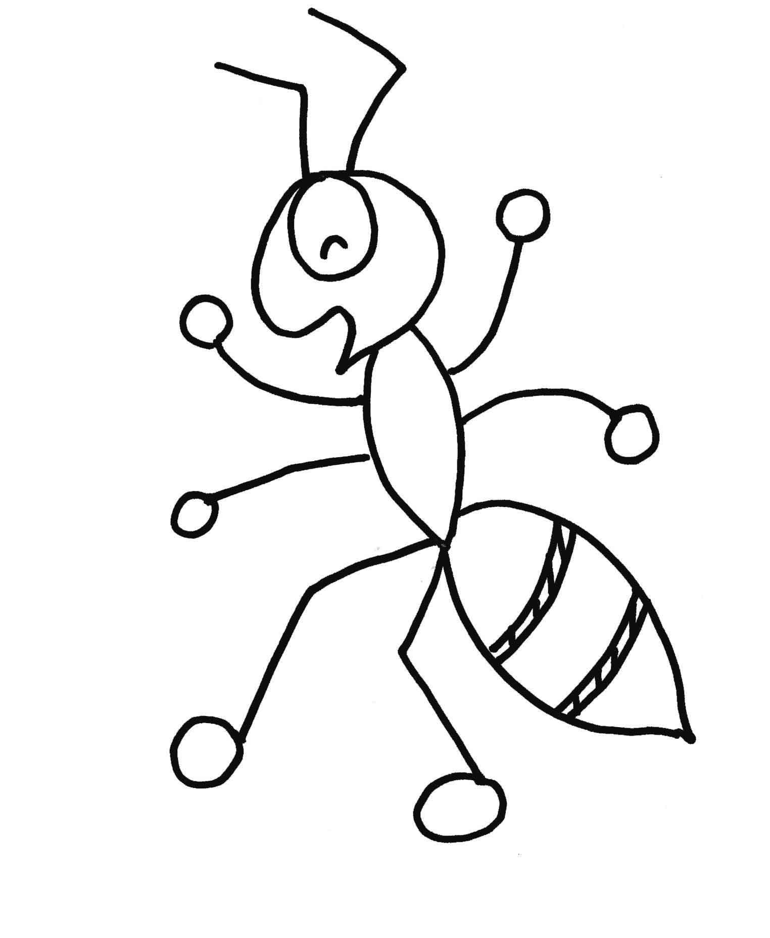 Free Printable Ant Coloring Pages For Kids Coloring Pages Ant
