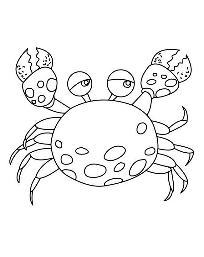 free printable crab coloring pages for kids Seafood Cartton Coloring Pages Cartoon Fish Coloring Pages