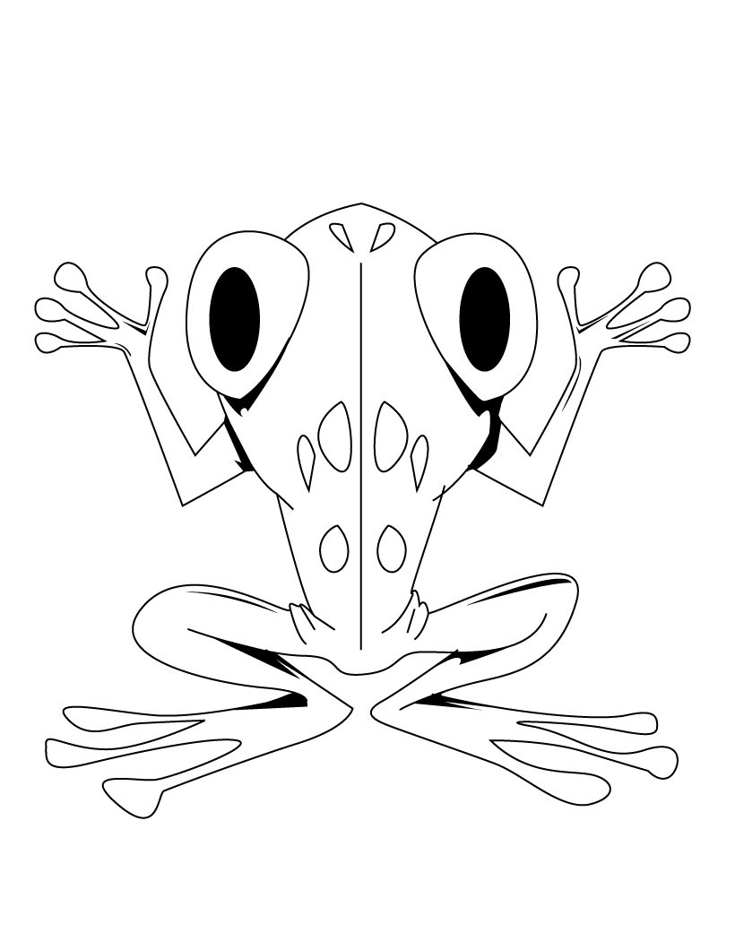 cartoon frog coloring pages - photo#17