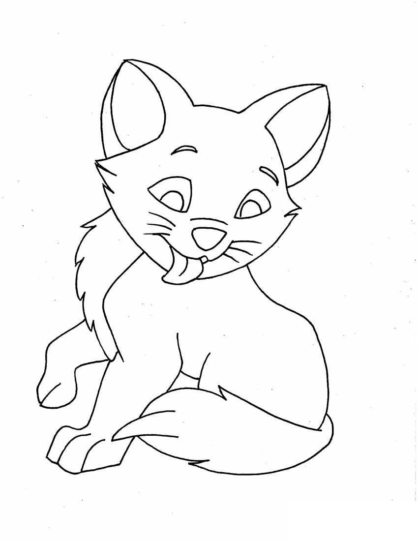 coloring pages of animals cats - photo#17