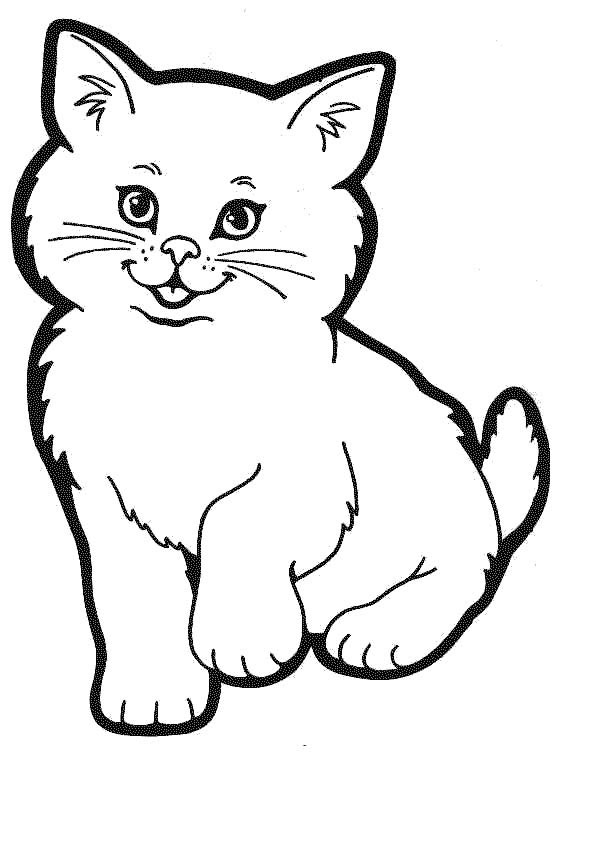 cat pages for coloring - photo#4