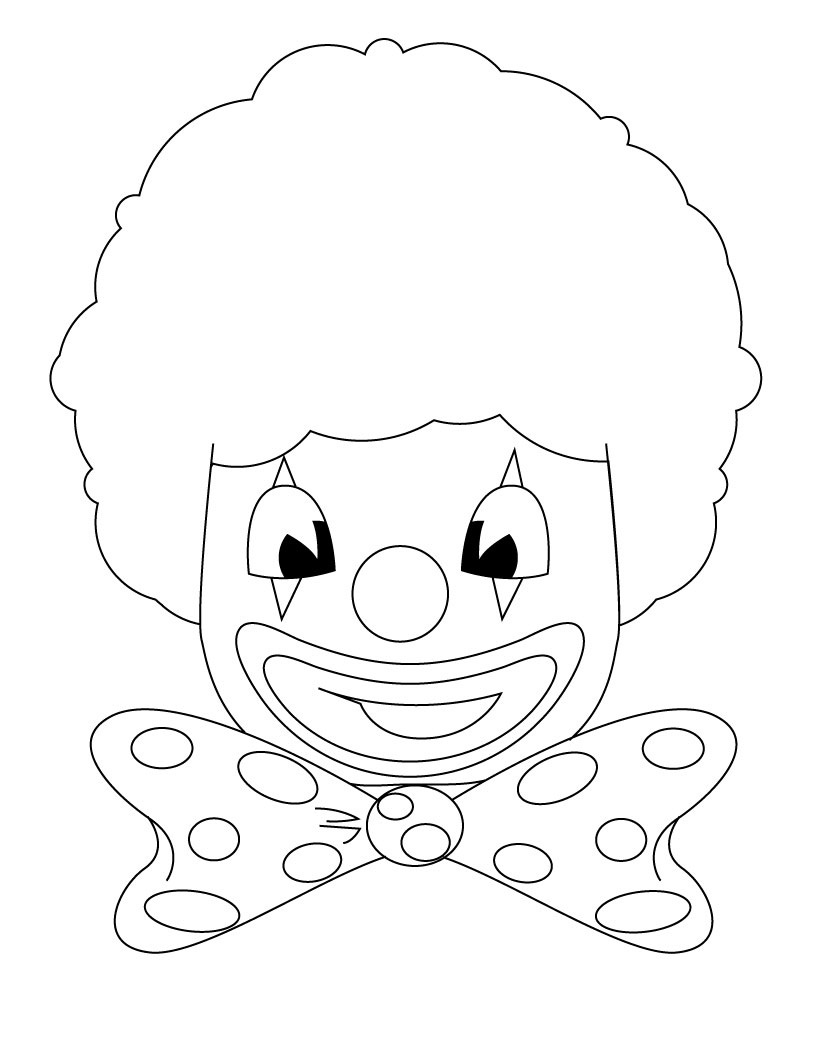 clown coloring pages free printable - photo#32