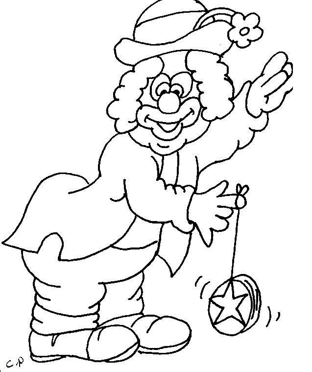 Clown Coloring Pages Photos