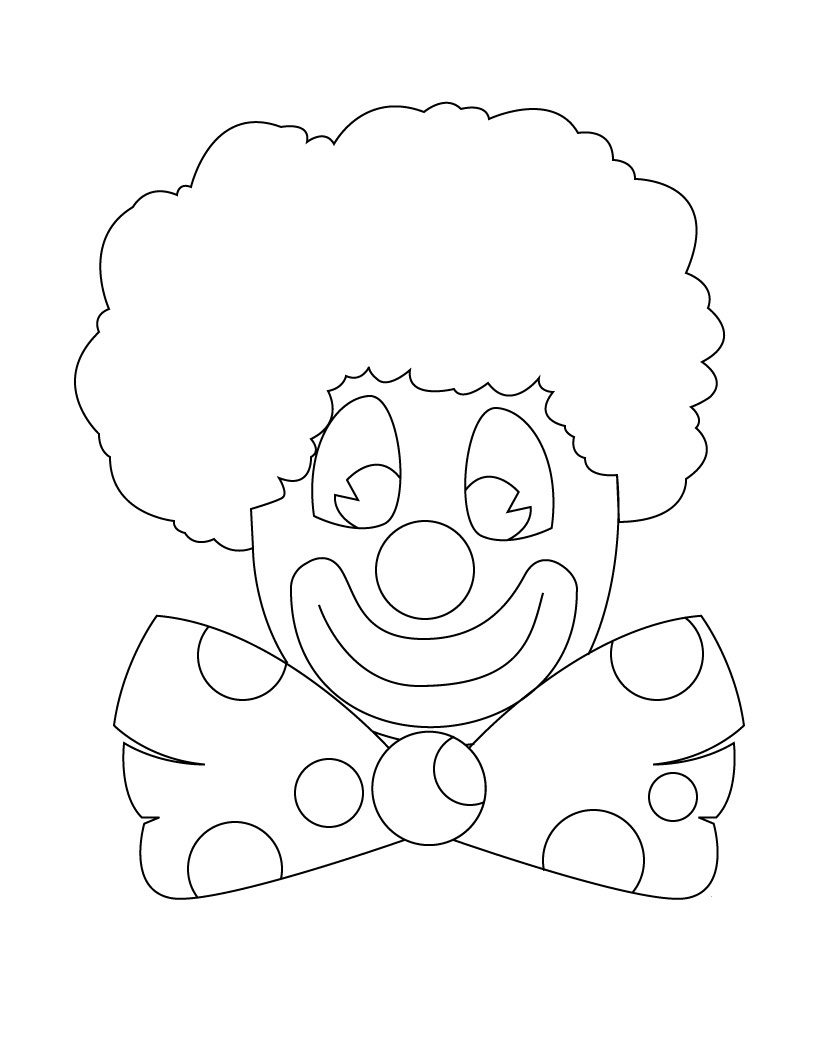 clown faces coloring pages - photo#8