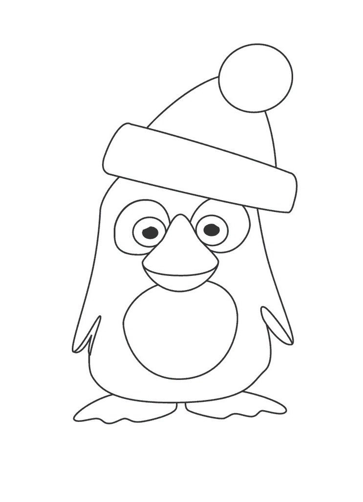 penquin coloring pages - photo#30
