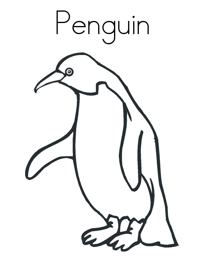 penquin coloring pages - photo#16