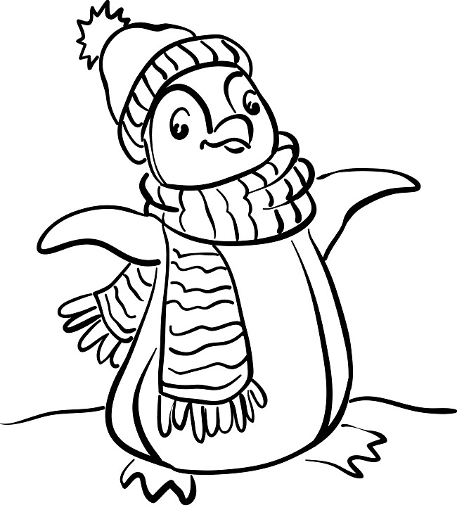 preschool penguins coloring pages - photo#33