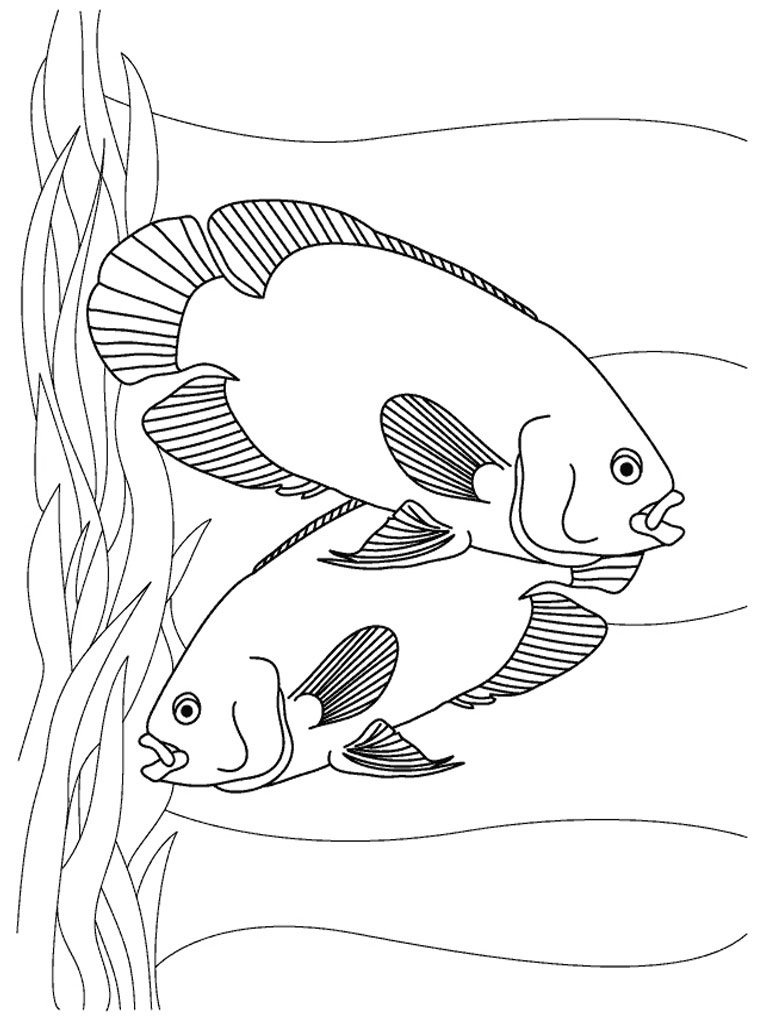 dog coloring pages realistic fish - photo#12