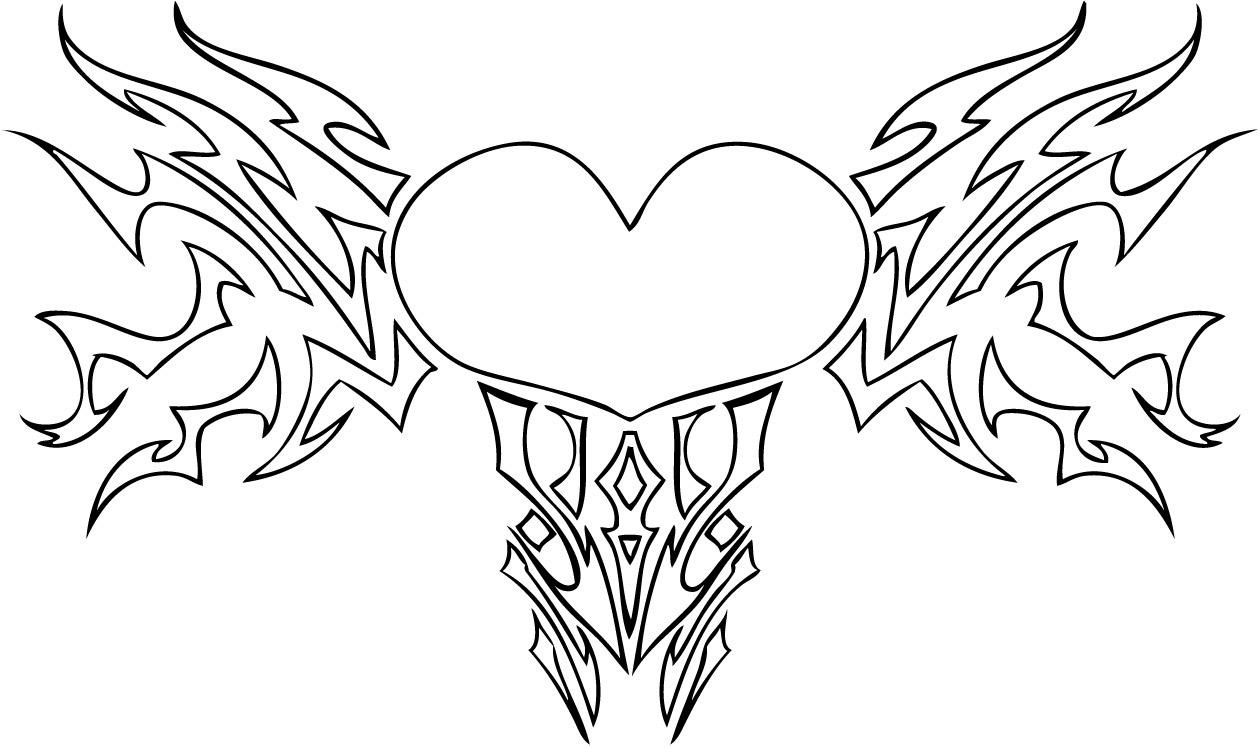color pages of hearts - Coloring Pages Hearts Roses