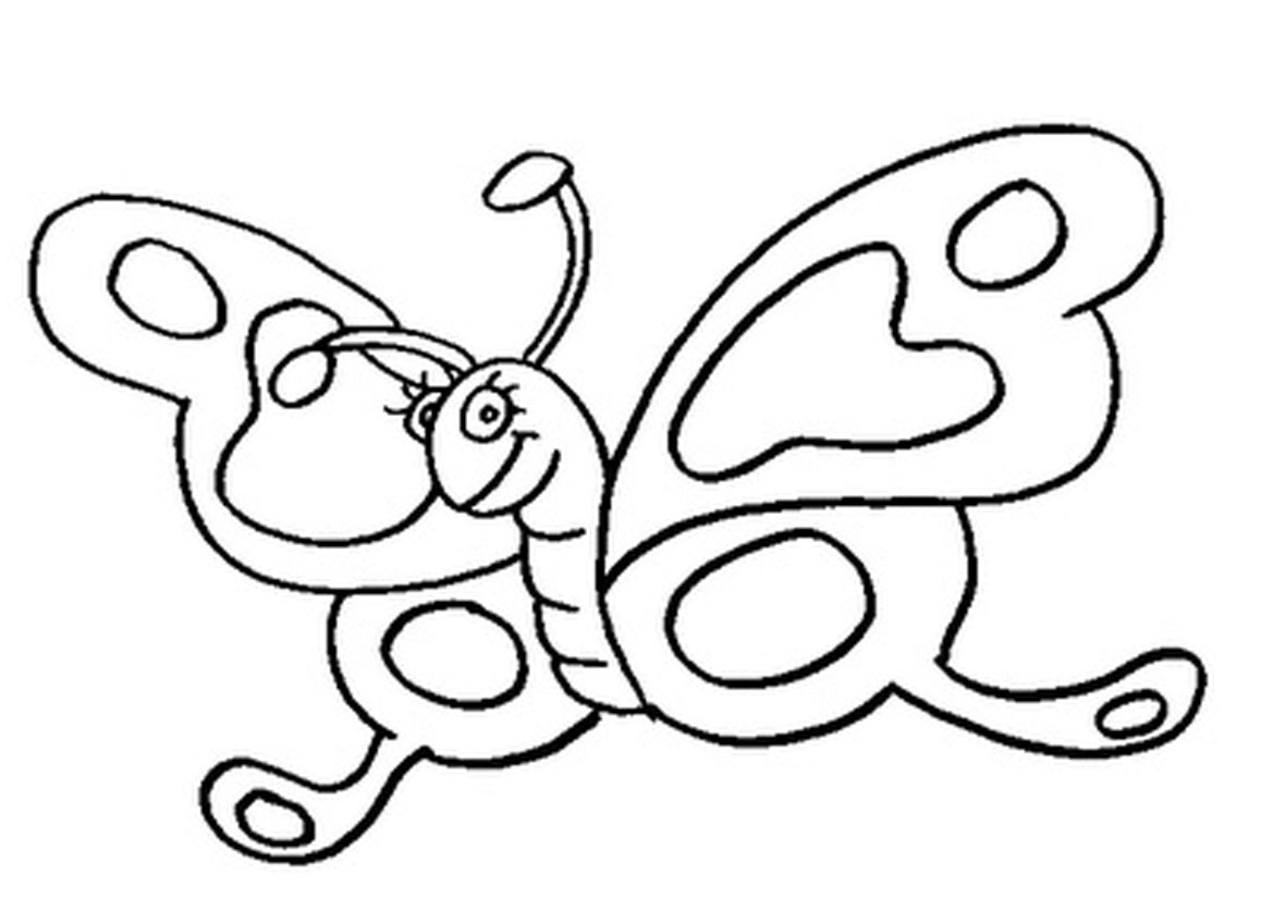 coloring page butterfly - Simple Printable Coloring Pages