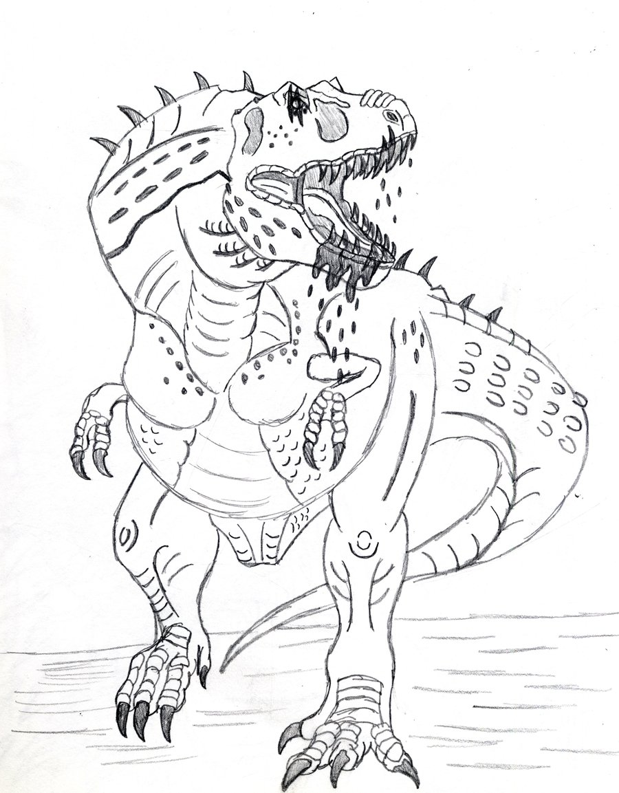 dinosaur fight coloring pages - photo#36