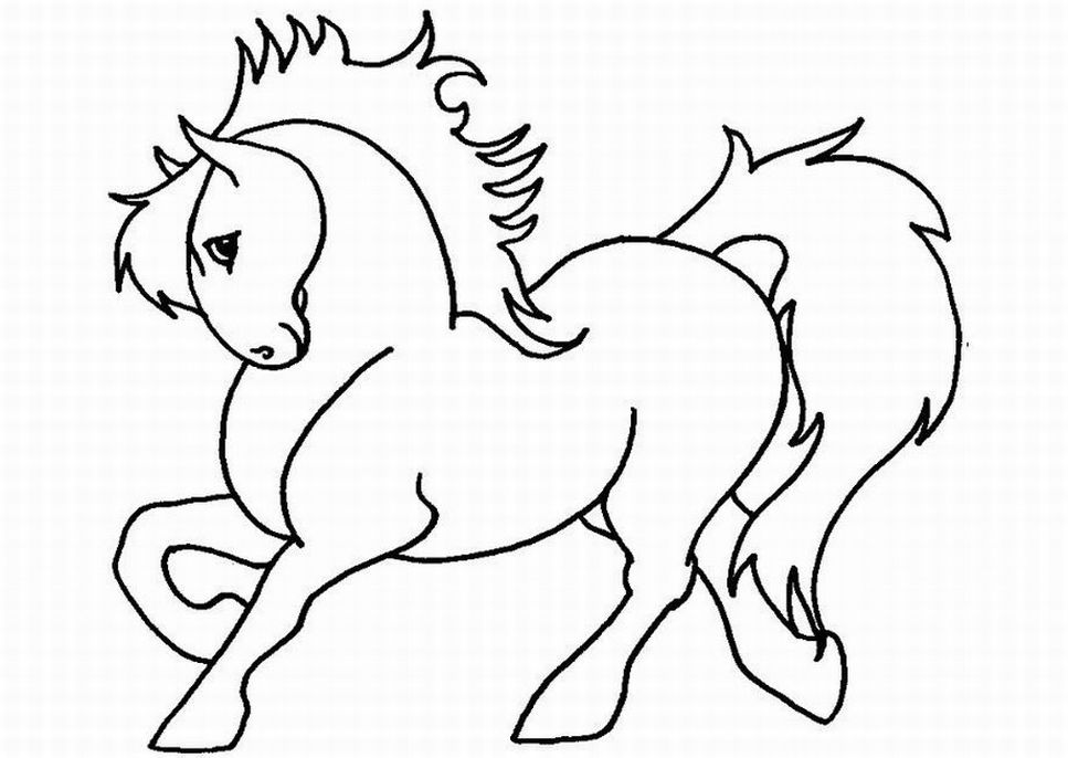 coloring book pages of horses - photo#9