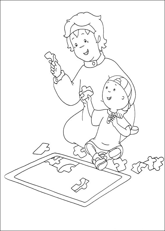 Coloring Page of Caillou