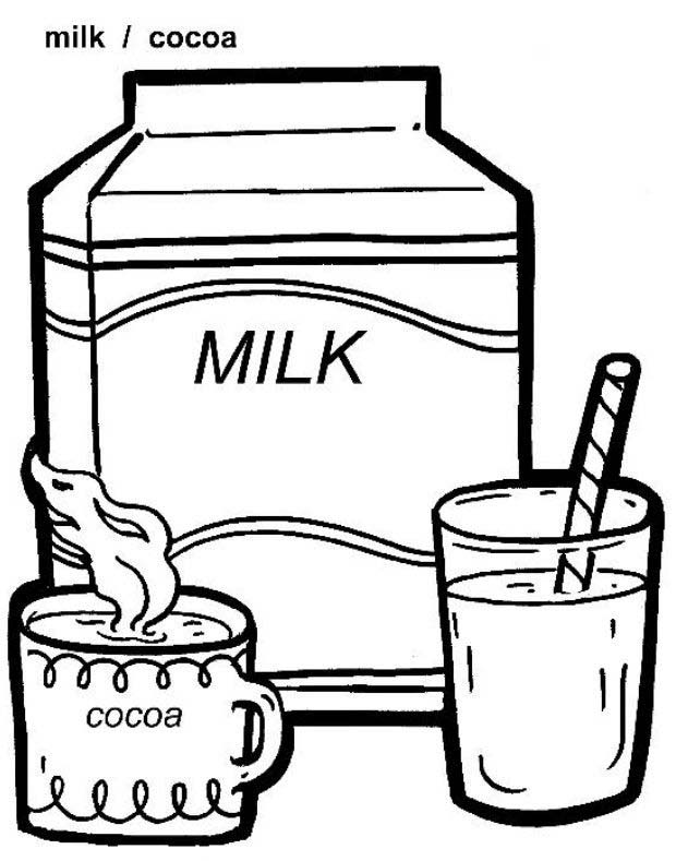 Coloring Page of Food