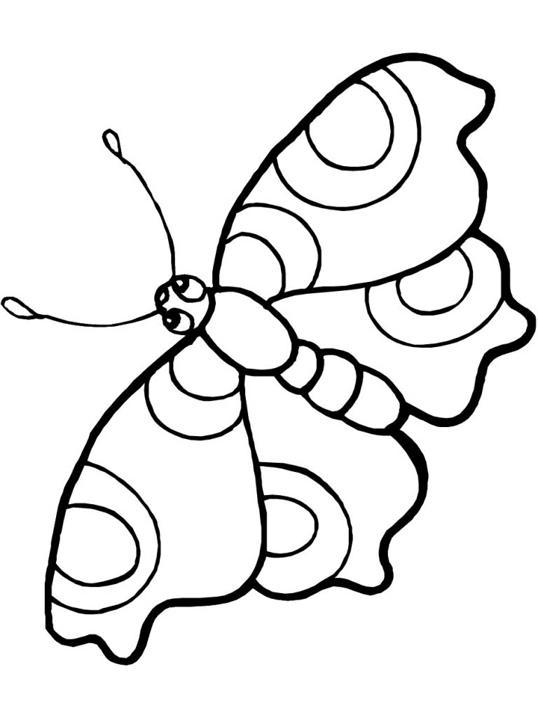 Coloring Page of a Butterfly