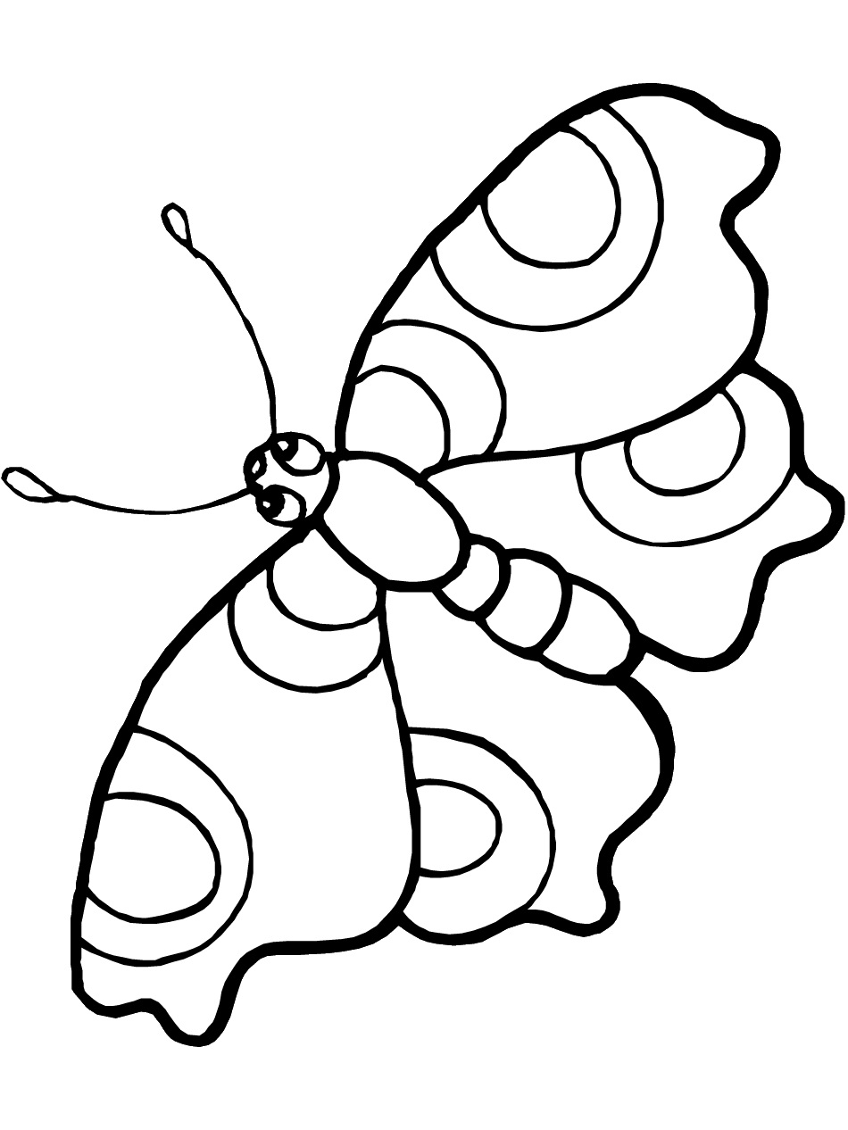 Free printable butterfly coloring pages for kids for Coloring pages toddler