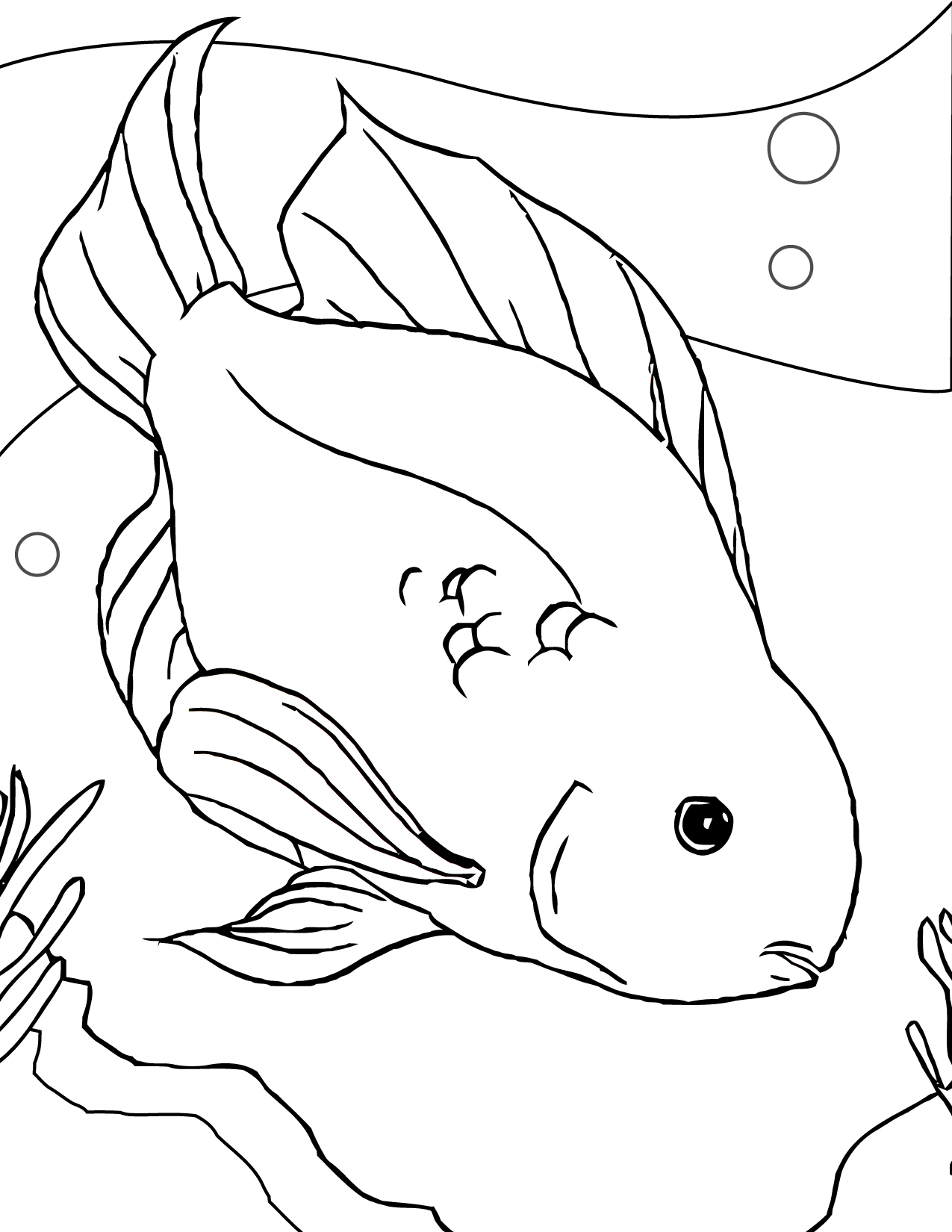 coloring pages of fishing - photo#33