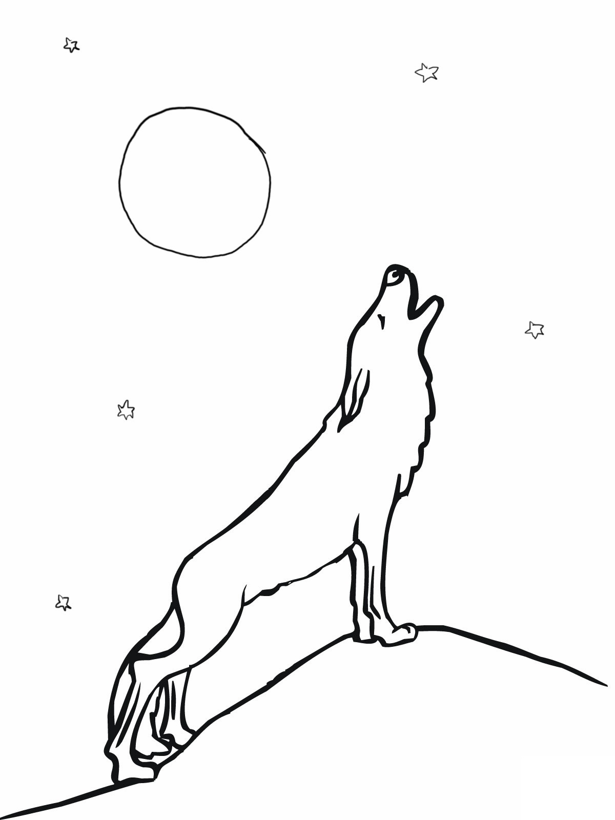 Coloring Page Of A Wolf