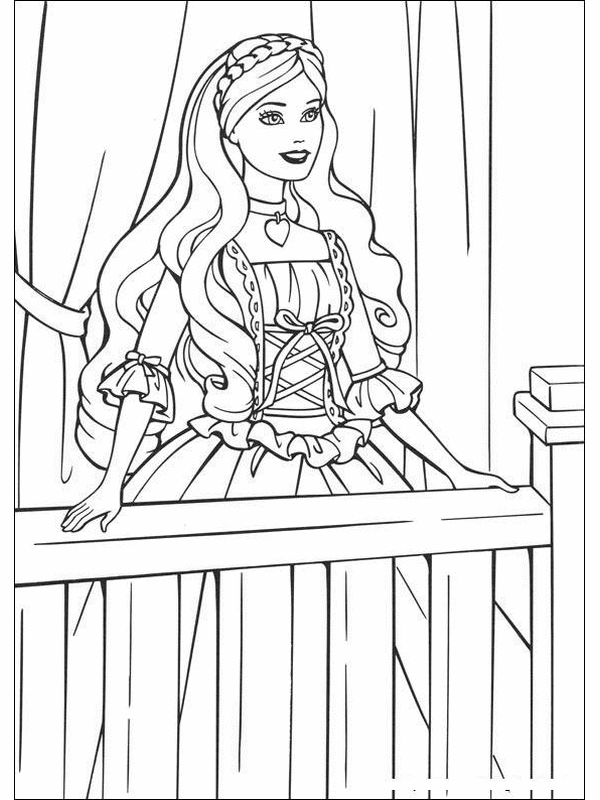 Coloring Pages Barbie Princess