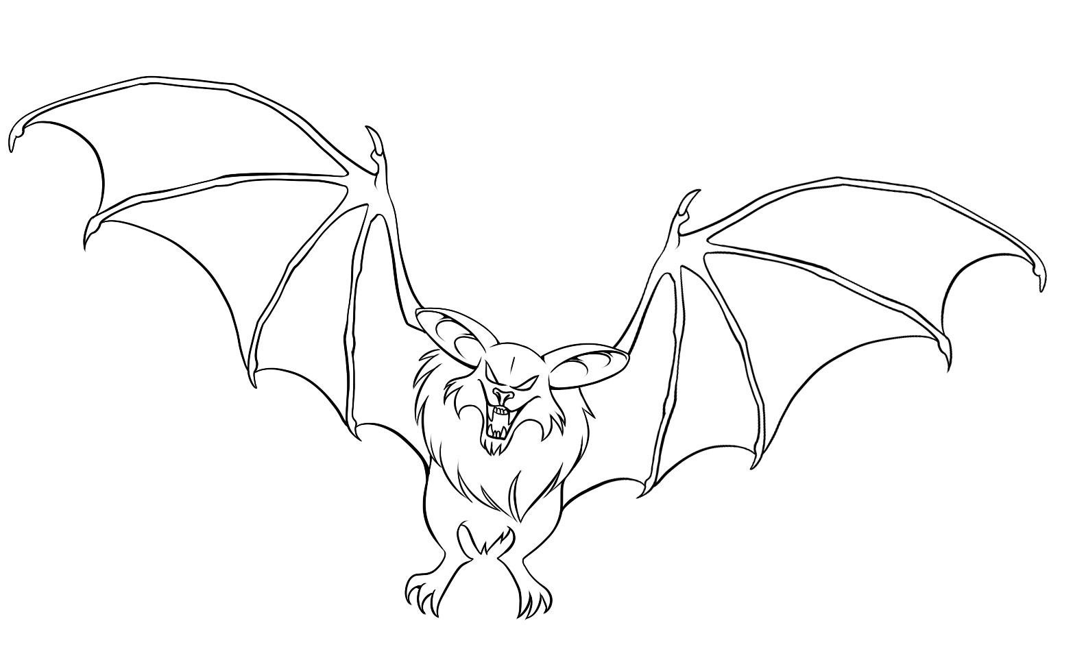 coloring pages of a bat - photo#34