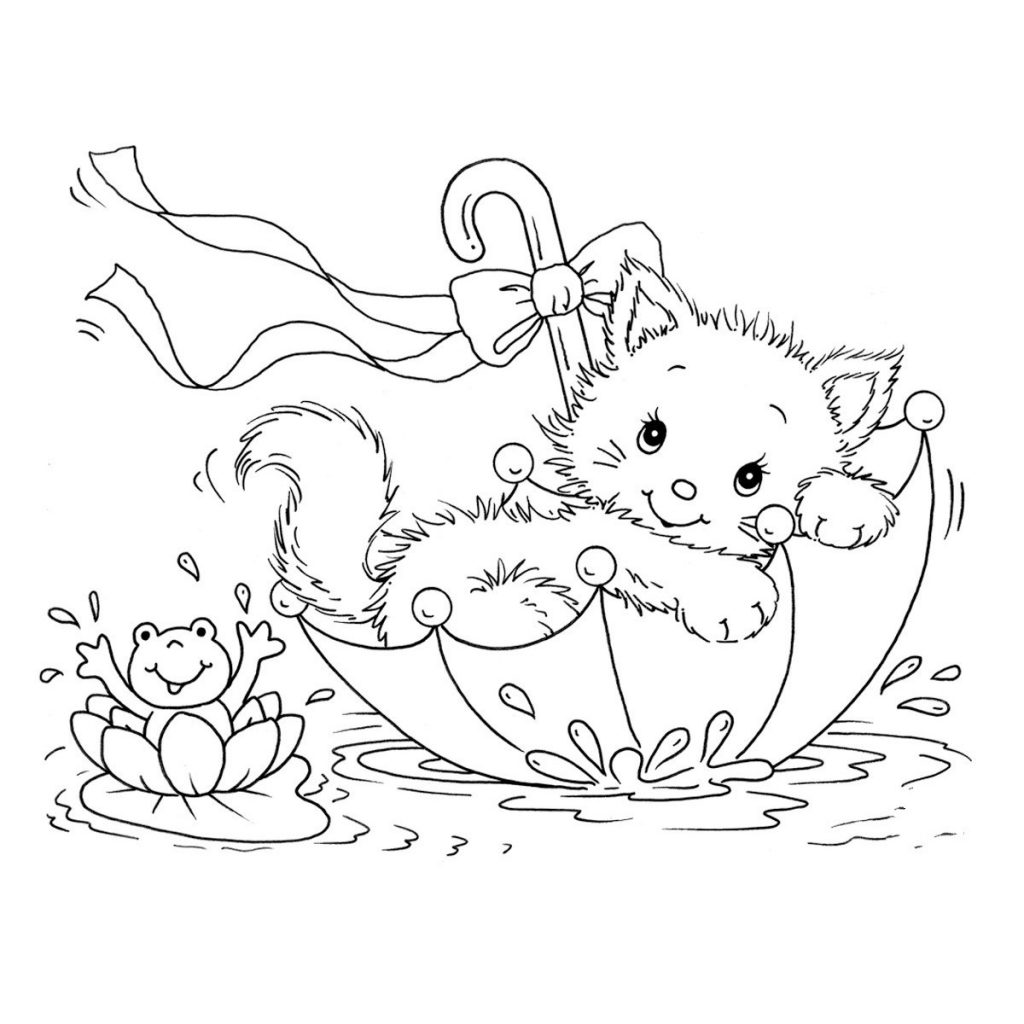 childrens coloring pages of cats-#15