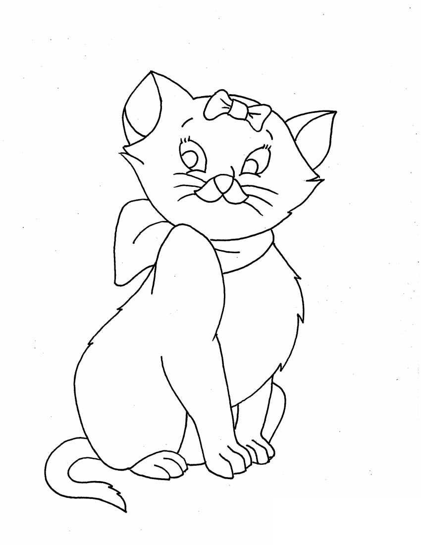 cat pages for coloring - photo#48