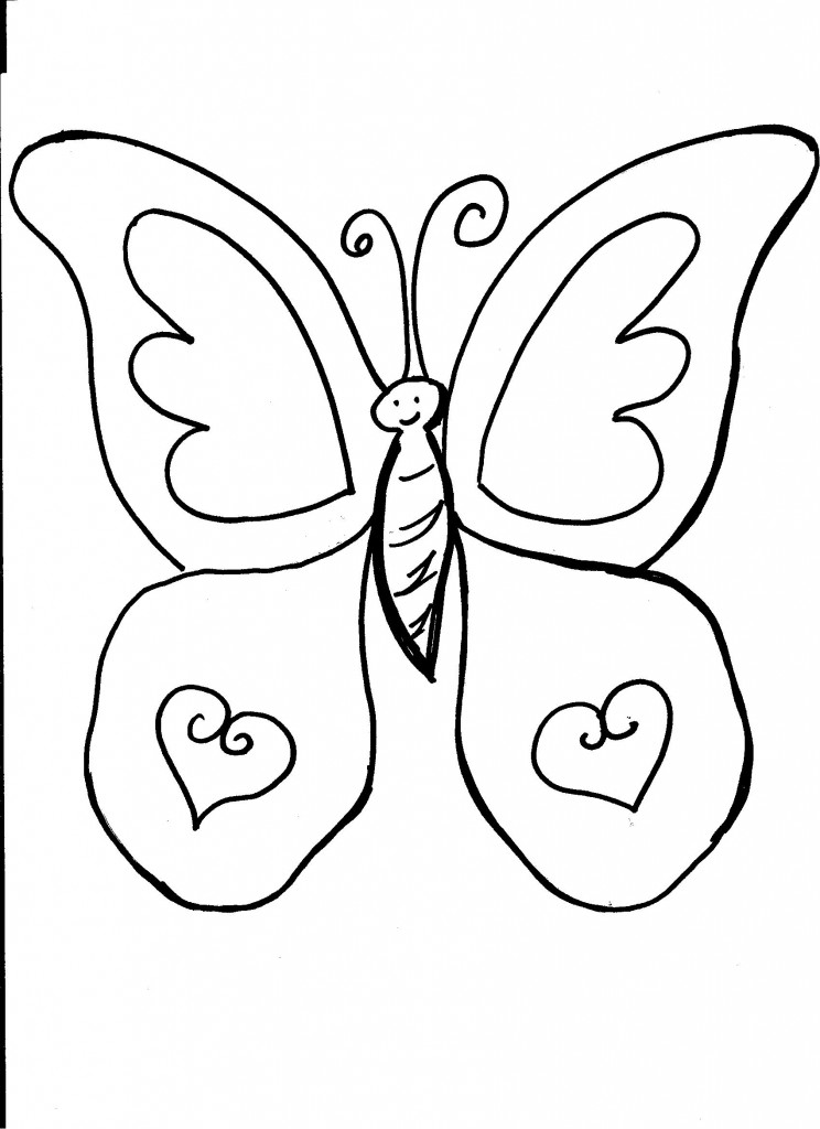 Coloring Pages For Butterflies