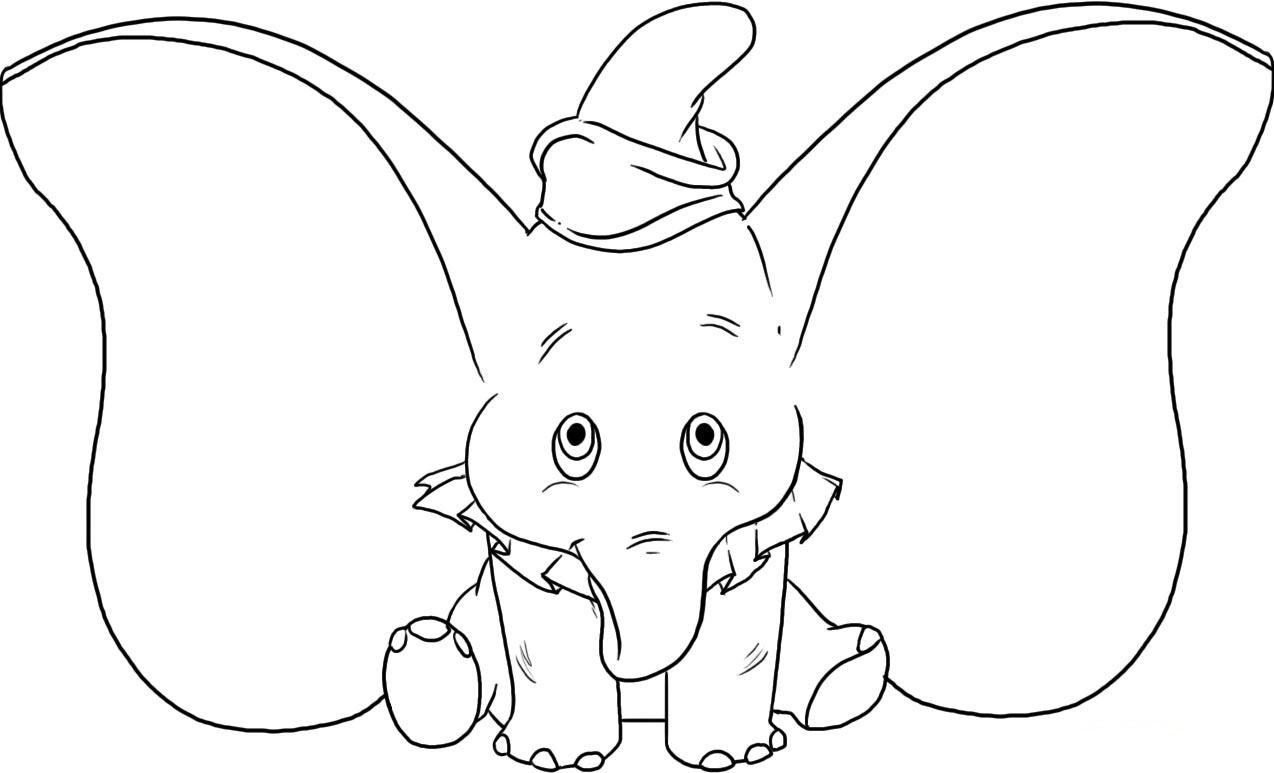 Dibujos Para Colorear Grandes Disney: Free Printable Elephant Coloring Pages For Kids