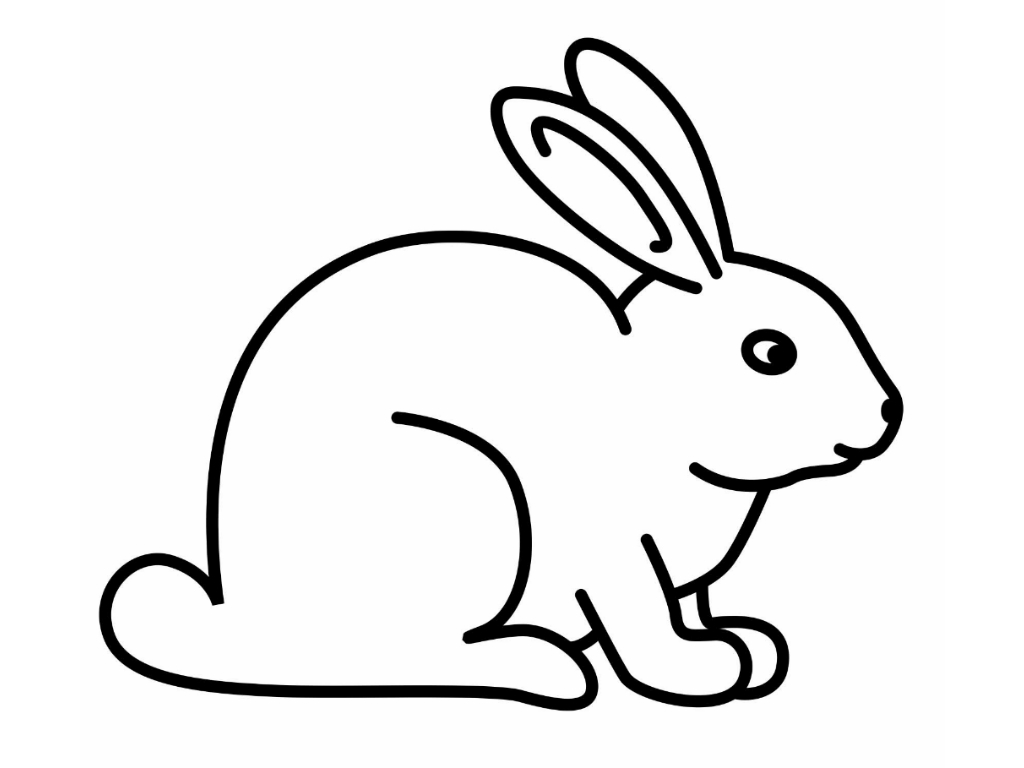 Free printable rabbit coloring pages for kids for Rabbit coloring pages
