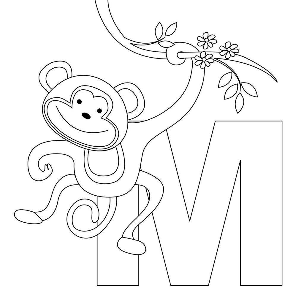 Coloring Pages of Cute Monkeys