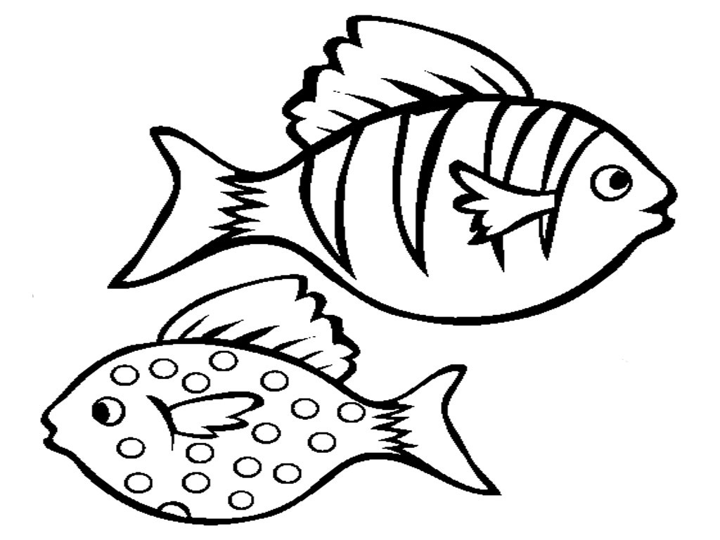 free printable fish coloring pages for kids - Tropical Coloring Pages Print