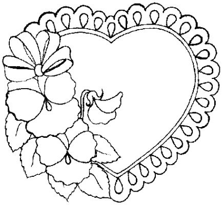 coloring pages of flowers and hearts - Coloring Pictures For Kids