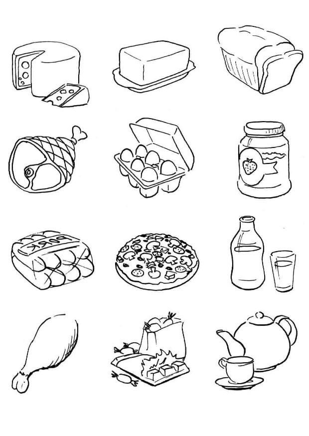 free food group coloring pages - photo#9