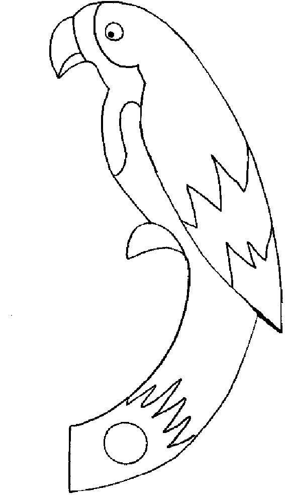Coloring Pages of Parrot Printable
