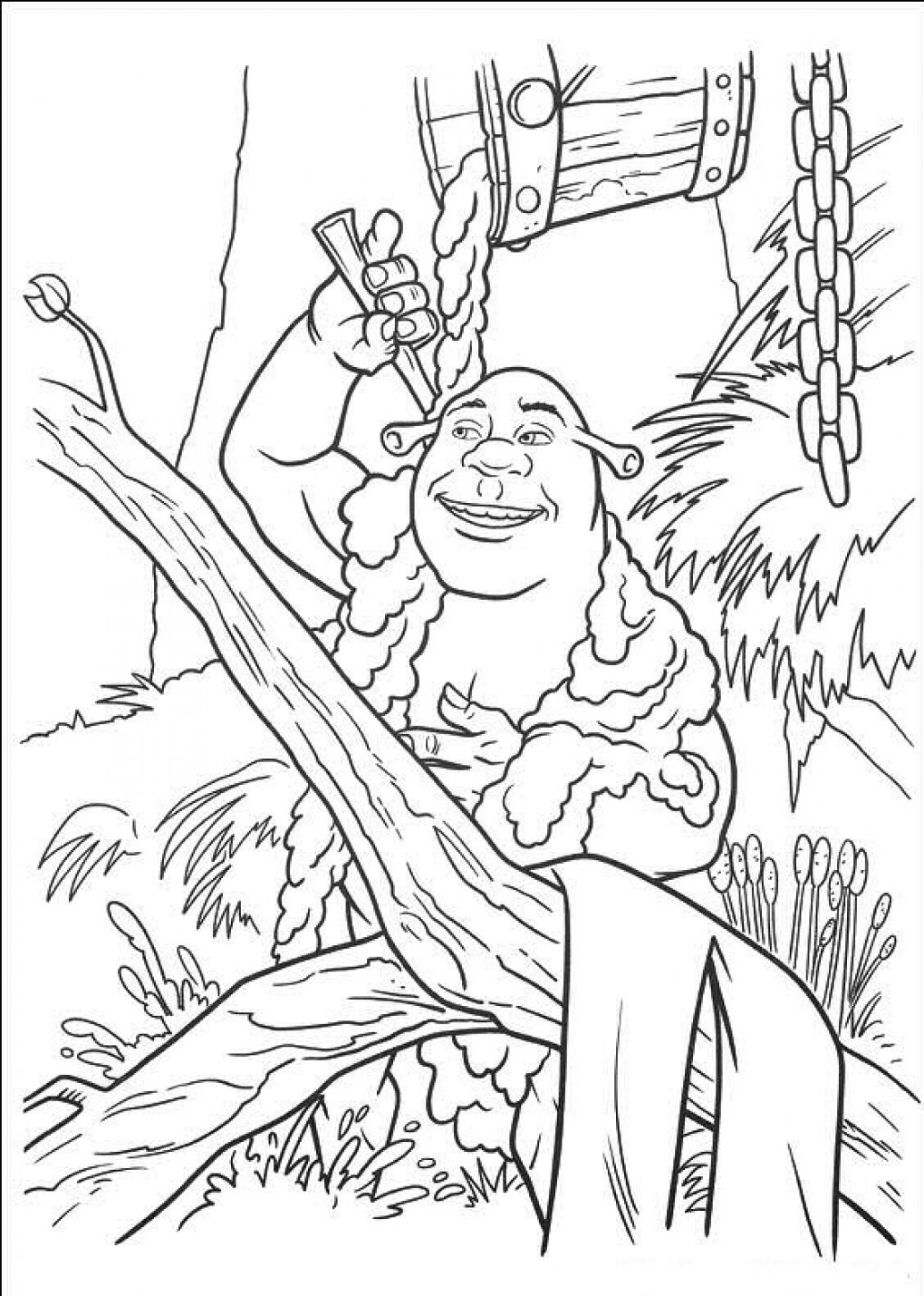 free printable shrek coloring pages for kids