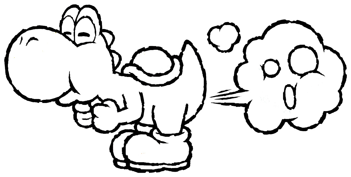 coloring pages of yoshi - Yoshi Coloring Pages
