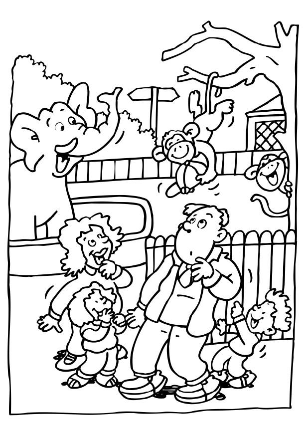 educational coloring pages zoo animals - photo#26